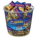 Miniposer Haribo - 100 stk. Guldbamser ( blå top)