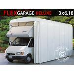 Foldetunnelgarage (Campingvogn), 3x6,18x3,6m, Hvid