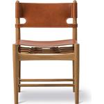 Den spanske spisebordsstol - Eg Olie/Cognac læder