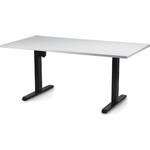 1-JM Hæve Sænkebord 160x80 cm. Hvid, sort Stel