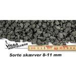 Granitskærver 8-11 mm. Koksgrå. Big bag med 0,5m3