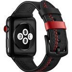 Apple Watch Series SE/6/5/4/3/2/1 Stitched Læderrem - 42mm, 44mm - So