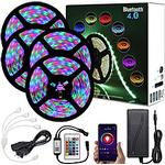 20m (4x5m) app intelligent kontrol bluetooth musik sync fleksibel led strip lys 2835 rgb smd 1080 leds ir 24 nøgle bluetooth controller med 12v adapter kit Lightinthebox
