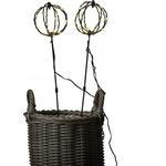 Dacore trådkugle på spyd 2 stk 24 LED lys m/timer 150529