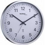Væg ure hård plast radio kontrolleret quartz ur med klarer tal, Ø 30 cm
