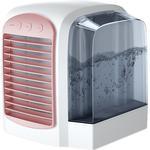 Dealsshop Mobilt klimaanlæg, usb bærbar luftkølerbordsventilator med natlys Pink