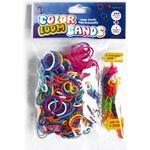 Loom Bands (Bandz) - 300 Colour Loom Twister Bands Elastik With 1 Complete Bracelets- Fun Party Rubber *Crazy tilbud*