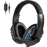 Stereo Gaming Headset For All PS4 Xbox one PC with Microphone and Volume Control Blue