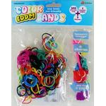 Loom Bands (Bandz) - 300 Colour Loom Bands Kit With 1 Complete Bracelets and 3 Charms - Fun Party Rubber *Crazy tilbud*