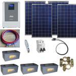 Solcelleanlæg SC1000 Solarix med batteri 420Ah/24V og inverter 2,4kW