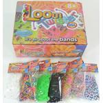 Loom Bands (Bandz) - 600 Loom #2 Twister Bands Elastik - Fun Party Rubber *Crazy tilbud*