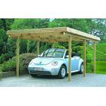 Gardenpro carport enkelt i træ med fladt tag 320x650 cm