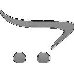 Krebsebrik m. 2 Ringe - Ø 40cm