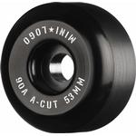 "Mini Logo Skateboard Wheels A-cut ""2"" 53mm 90A Black 4pk"