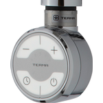 TVS el-patron rund 300 W med afbryder, termostat og timerfunktion i krom