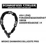 AXA LINQ KÆDELÅS FORSIKRINGSGODKENDT - 180CM - SORT