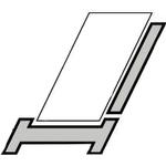 Velux kombiindd. t/fladt tag EKL PK10 0006E 94x160cm A=100m ovenlys øverst højre hjørne