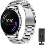 Armbånd Rustfri stål OnePlus Watch 46mm - Sølv