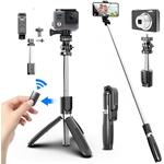 Bakeey L02 bluetooth Wireless Selfie Stick All in One Tripod Foldable & Monopods Lighting Remote Control for Smartphones
