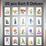 20pcs Amiibo Mario Kart 8 Deluxe locks ntag215 Coin Tag Tagmo amiiboen Cards NFC Game for Switch/Switch Lite/Wii U Nintendo Switch Gaming