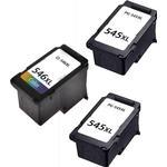 Canon PG 545 XL / CL 546 XL combo pack 3 stk blækpatron - Kompatibel - BK/C 48 ml