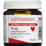 Hjertemagnyl 75 mg (Håndkøb, apoteksforbeholdt) 100 stk Filmovertrukne tabletter