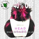 505 - Pink Dash - Sirdar Head Start Super Chunky Hat Knitting Kit With Furry Pompom - 40 Off