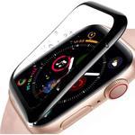 Apple Watch SE / 6 / 5 / 4 (40mm) - Full-Fit Skærmbeskyttelse - Sort Kant