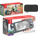 Nintendo Switch Lite (Grey) Mario Kart Live: Home Circuit - Luigi Set Pack