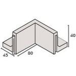 IBF Parkline Støttemur 40 40x80x45cm indv. hjørne grå 390kg/stk 40cm høj 10cm tyk