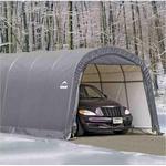 Shelterlogic Roundtop opbevaringstelt / garagetelt 23 m2 grå