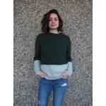 Kontrastsweater - opskrift