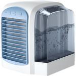 Dealsshop Mobilt klimaanlæg, usb bærbar luftkølerbordsventilator med natlys blå