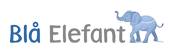 Blå Elefant DK Logo