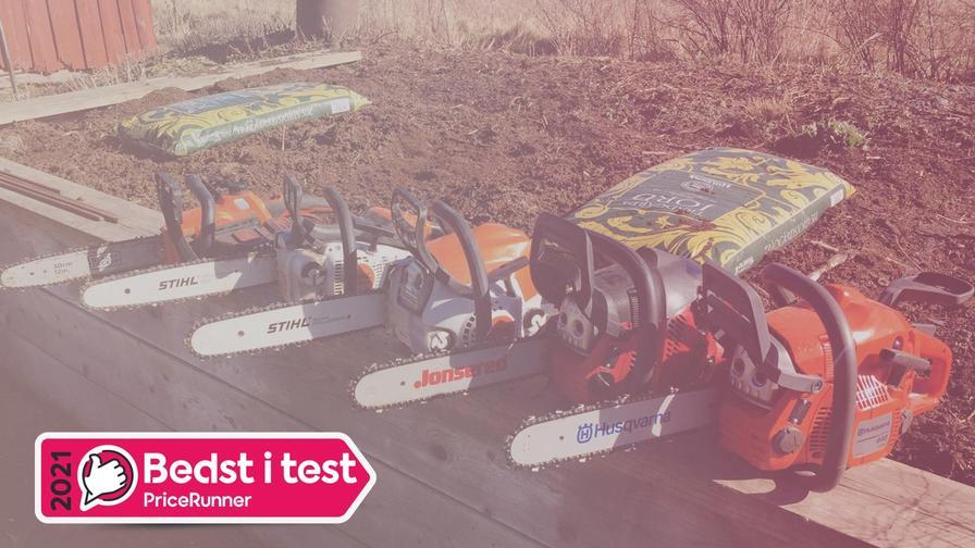 Motorsav test: 16 modeller med batteri og  benzin testet