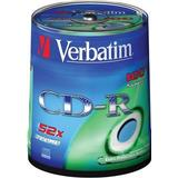 CD Verbatim CD-R Extra Protection 700MB 52x Spindle 100-Pack