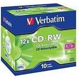 CD Verbatim CD-RW 700MB 12x Jewelcase 10-Pack