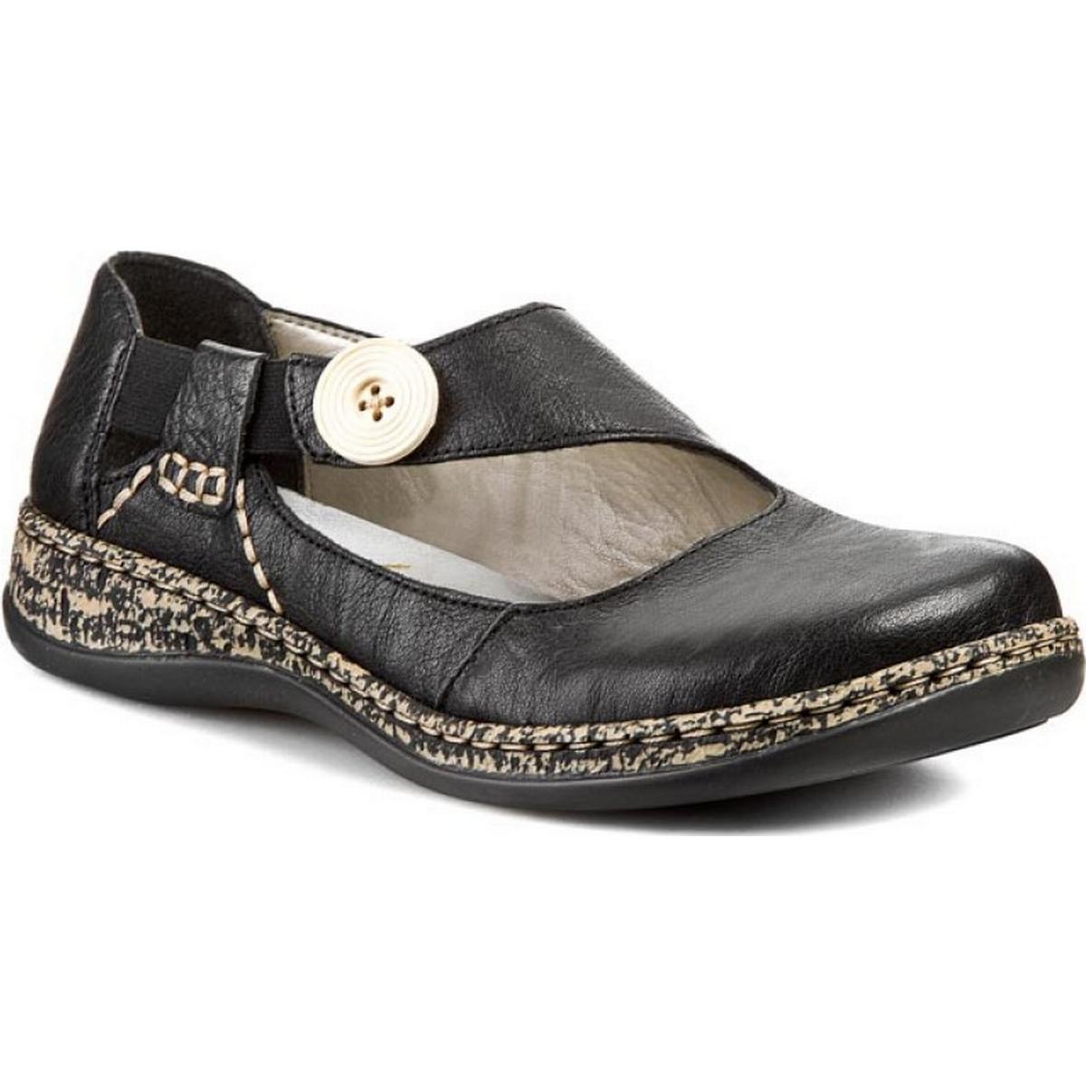 Rieker kvinde sandal cristallino sort Sko Sammenlign