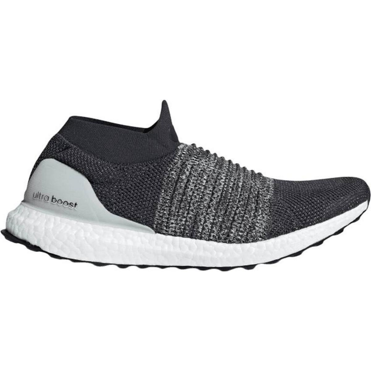 adidas Mens Ultraboost Laceless ftwr whiteactive red