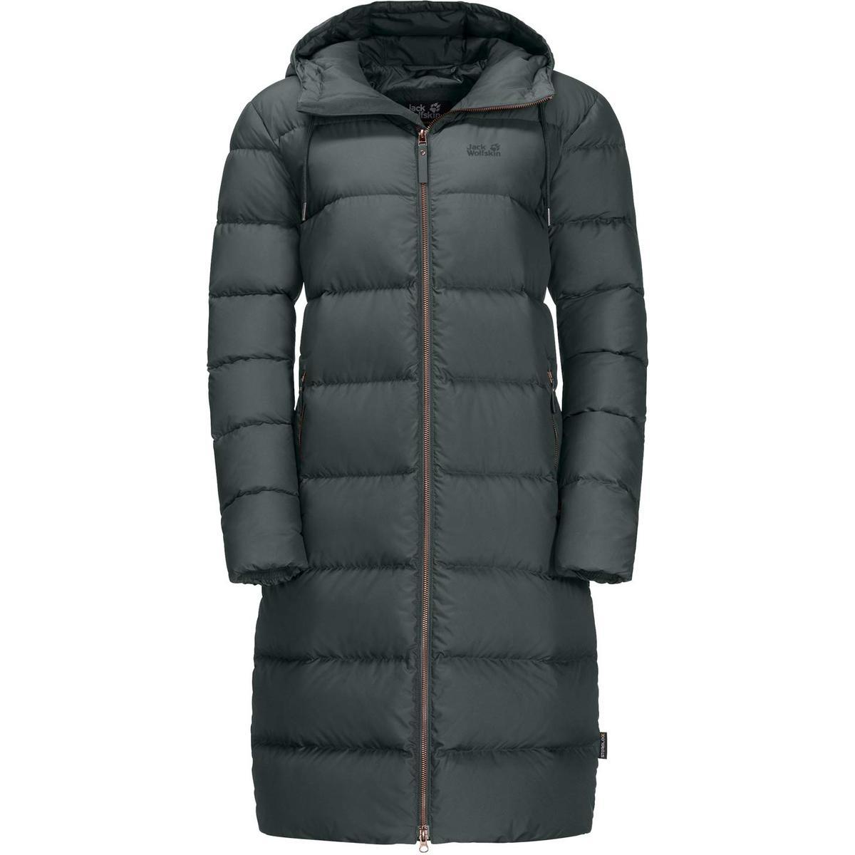 Dame Dunjakker Køb Vinter 2018 Tykke Med Knapper Lange Ærmer Militærgrøn Hvid
