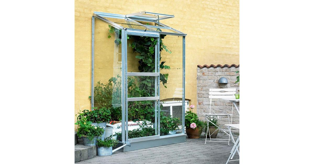 Picture of: Halls Vaxthus Altan 0 9 M2 Aluminium Glas Se Priser Hos Os