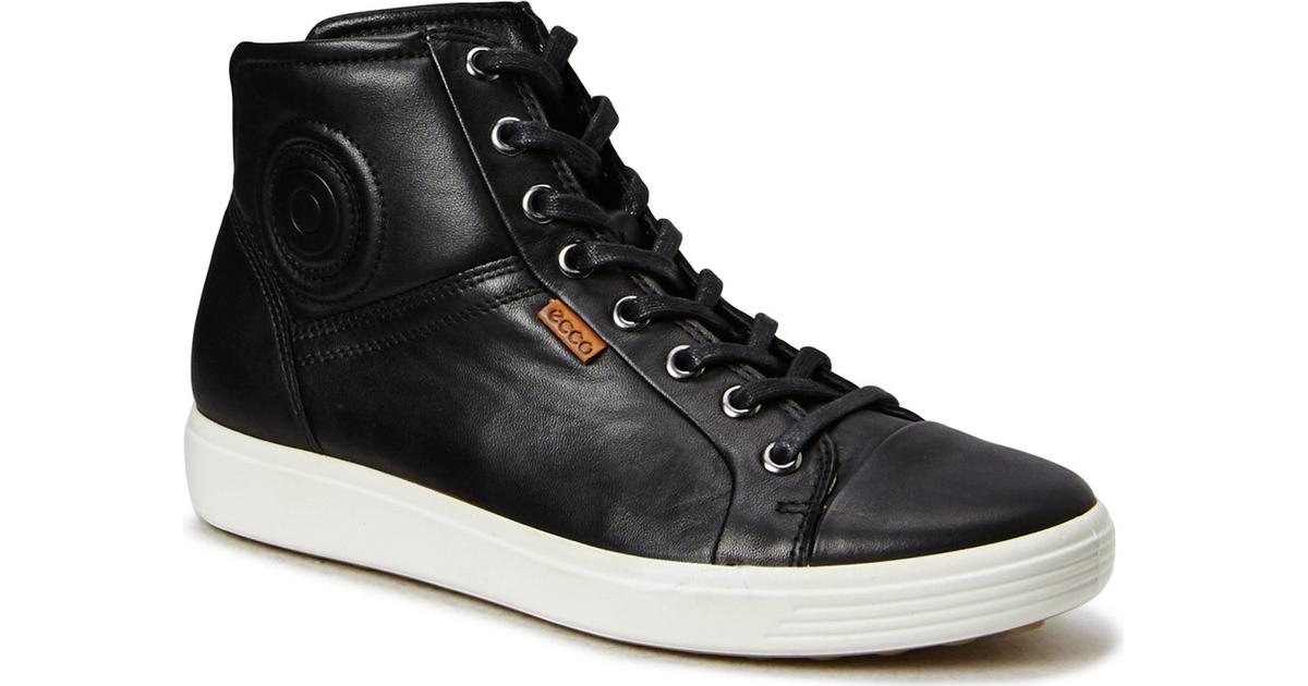 Ecco Damesko Soft 7 Sneaker Sort Leather Kondisko | Ecco