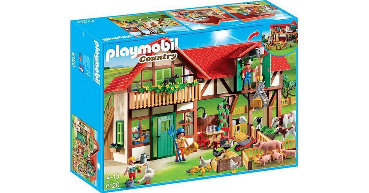 Folkekære Playmobil Stor Farm 6120 - Sammenlign priser hos PriceRunner US-35