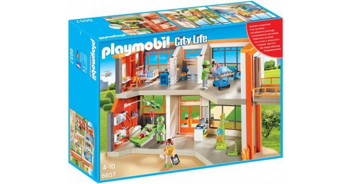 Moderne Playmobil Furnished Børneklinik 6657 - Sammenlign priser hos BX-04