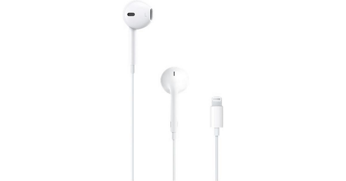 Rørig Apple EarPods Lightning • Se billigste pris (82 butikker) hos BI-23