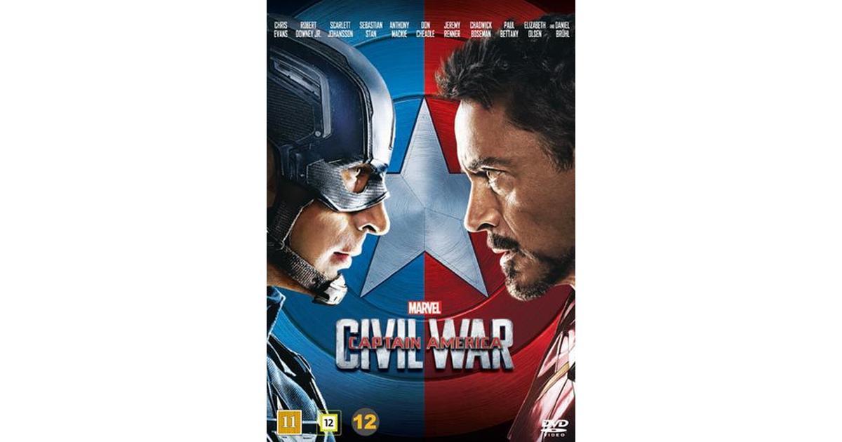 Picture of: Captain America 3 Civil War Dvd Dvd 2016 Se Priser Hos Os