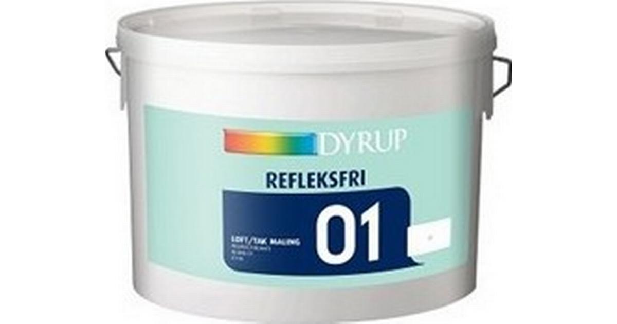 Rask Dyrup 01 (6110) Reflex Free Loftmaling Hvid 10L - Sammenlign PK-33