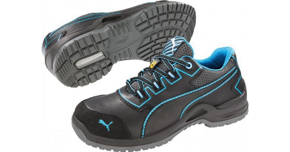 PUMA Safety Niobe Blue Wns Low 644120 38 ESD sikkerhedssko S3 Strrelse: 38 Sort, Blå 1 pair