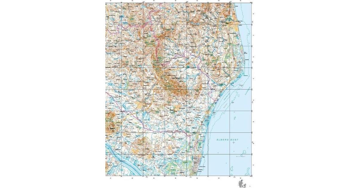 Trap Danmark Kort Over Bronderslev Kommune Topografisk Kort 1
