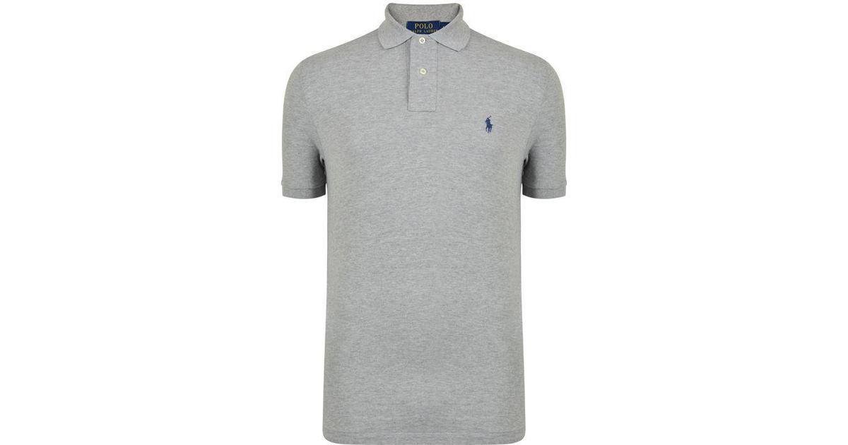 Polo Ralph Lauren Custom Slim Fit Mesh Polo Shirt Canterbury Heather Sammenlign priser & anmeldelser på PriceRunner Danmark